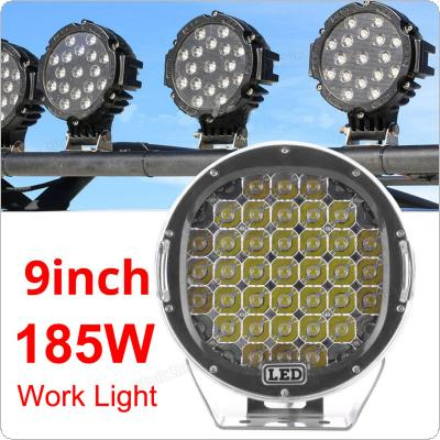 9 Inch 185W CREE LED 6000K Work Driving Lights Spot / Flood light HID Vehicle Driving Lights for Offroad SUV / ATV / Truck / Boat