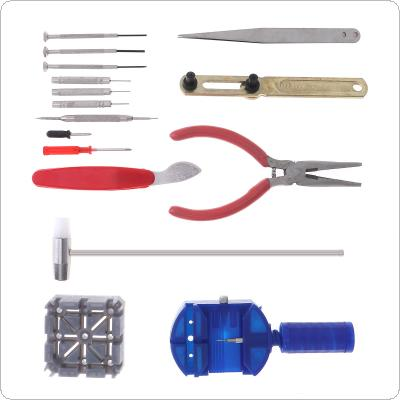 16pcs Sets of Repair Table Set with Alloy Steel Watch Repairing and Disassembling Tools