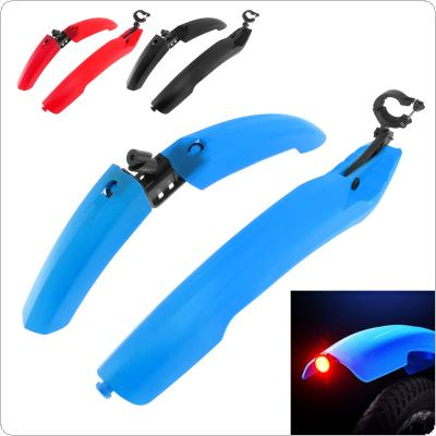 Tail Light Bicycle Fenders Bike Mudguard Cycling Mountain Mud Guards Set with Quick Release and LED Light  for MTB Bike