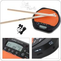 Digital Electric Drum Pad Training Practice Metronome with Two Maple Wood Drum Sticks 5A Drumsticks