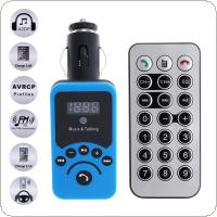 Car LCD Bluetooth MP3 Music Player Kit Auto Radio Player Hands-free FM Transmitter with Remote Control