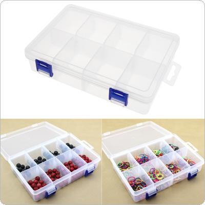 8 Grid Double buckle Transparent Plastic Storage Box Detachable Hardware Tool Box Jewelry box miscellaneous box Assortment Box