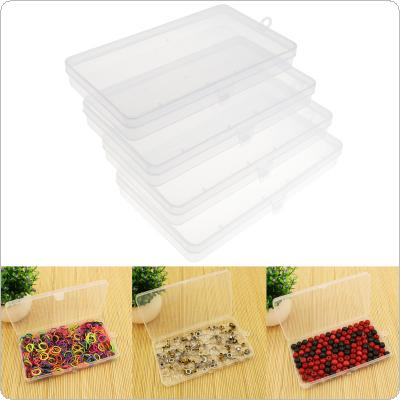 4pcs Transparent Plastic Storage Box Hardware Tool Box Collection Container Case with Lid Sample box parts box jewelry phone accessories collection box