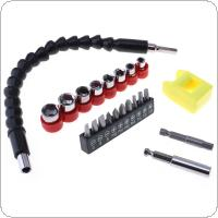 VOTO 22pcs Electric Drill Accessories Power Tool Snake Drill Sleeve Screwdriver Head and magnetic Device Drill Sets