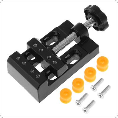 Mini Black Aluminum Alloy Jaw Bench Clamp Drill Press Vice Micro Clip for Clamping Table / Water Pump
