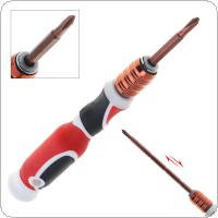 3.5mm Adjustable Dual Purpose Screwdriver with Phillips and Slotted for Office / Home Use