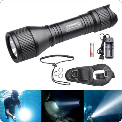 ORCATORCH D550 Waterproof Diving Flashlight 970 Lumens CREE XM-L2 U4 LED with O-Ring and Hand Rope for Professional Diving
