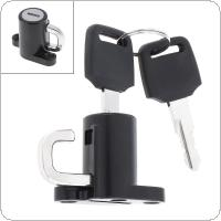 Universal B Type Black Motorcycle Helmet Lock Luggage Lock Motorcycle Accessories with Key for Motorcycle