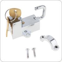 Universal Electroplating Motorcycle Helmet Lock Motorcycle Accessories with Key