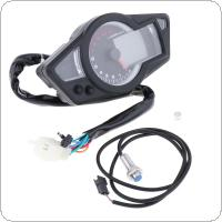 Universal  Tachometer BLUE LCD Backlight Speedometer Odometer Motorcycle Instrument Panel