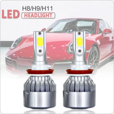 2pcs H11 H9 H8 80W 8000LM 6000K CSP LED Headlight Low Beam Fog Light Automobile Fog Lamp for Cars