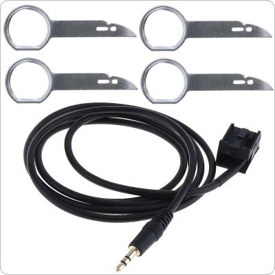 3.5mm Car Auto Interface AUX-in Audio Adapter MP3 Cable with CD Key for Ford PUMA/MK2/MK3/S-MAX