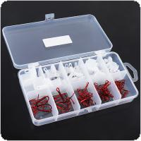 81pcs/Set High Carbon Steel Treble Fishing Hooks and Covers with Storage Case