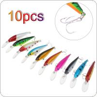10pcs 10g 11.5cm Fishing Lure Fit Artificial Hard Tackle Minnow with 3D Eyes and Steel Ball