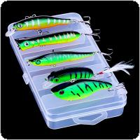 5pcs/lot Mixture Artificial Fishing Lures Hard Baits Minnow VIB Crankbait Wobbler with Box