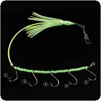 Tropical Nocturnal Octopus Squid Hook Luminous Gear Bead with 5 Wire Hooks