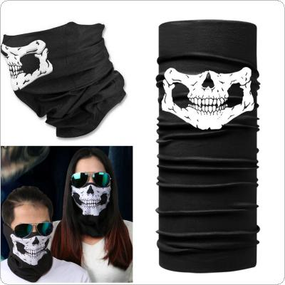Cycling Bicycle Ski Skull Half Face Mask Ghost Scarf Multi Use Neck Warmer COD Hiking Riding Dacron