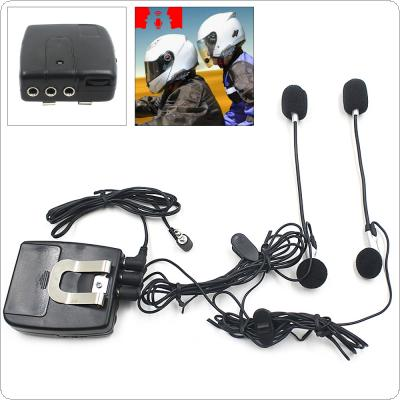 Universal Headset Helmet 2 Way Intercom Communication System Interphone 3.5MM Plug with MIC For Motorcycle