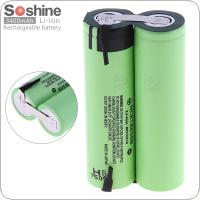 Soshine 2pcs 3400mAh 18650 Li-ion Rechargeable Battery with Nickel Sheet and Parallel Connection for Screwdriver / Drill