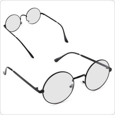 Big Round Metal Optical Frame Vintage Glasses Frame Plain Mirror Clear Lens  Women Men Retro Eyeglass