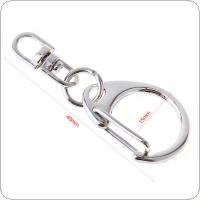 20pcs Small D Buckle Classic Key Chain with Nickle Aluminum Alloy for Key Hooks