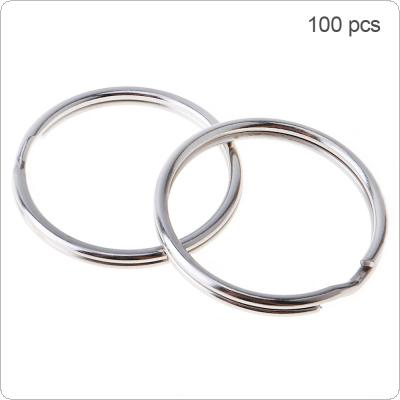 100pcs 25mm Multifunctional Iron Key Ring with Nickle Metal Key Holder Split Ring