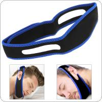 Comfortable Breathable Anti Snore Chin Strap with Headband Design and Unisex Type for Woman Man Night Sleeping