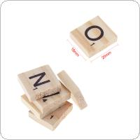 100pcs Natural Wooden Letter 26 English Alphabet Scrabble Number Crafts English Words  Decor Word Toys Gifts For Children IQ Props