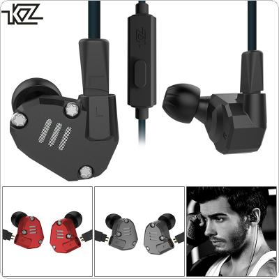 KZ Z36 3.5mm Detachable HIFI Aluminum Alloy In-ear Type Headset with 8 Unit Coil Iron Mixing Configuration and Call Microphone