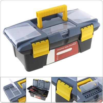 Medium Portable Plastic Hardware Tool box with Storage Box and Black for Home or Outdoor Finishing Debris