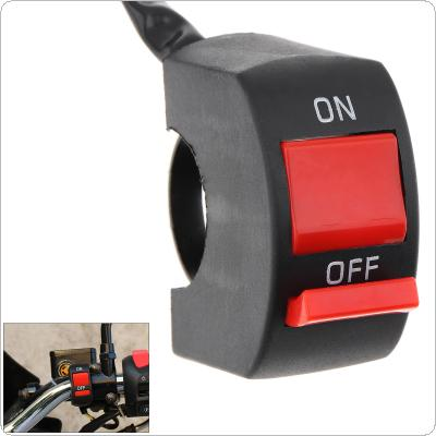 Universal Handlebar Switch ON-OFF Button Headlight Flame Rollout Switch for Motorcycle