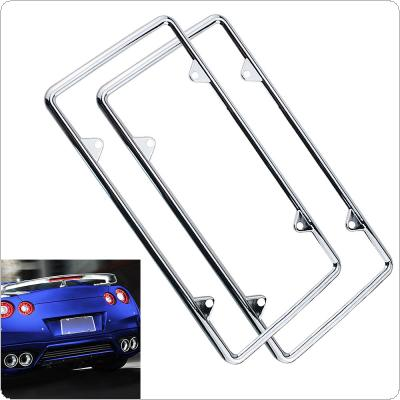 Universal Waterproof Car License Plate Box with Mirror Polished Chrome for Cars