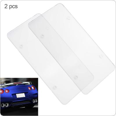2pcs Universal Waterproof Car License Plate Box with Carbon Fiber Style and Plastic Materia for Cars