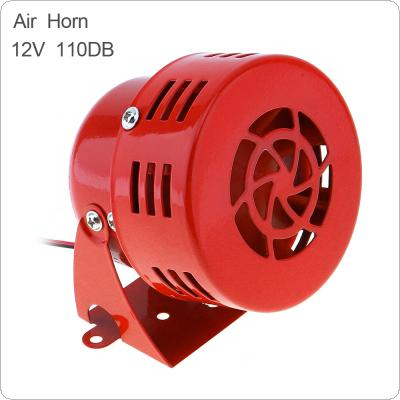 Universal 12V Red Automotive Motorcycle Horns Air Raid Siren Horn Car Truck Motor Driven Alarm