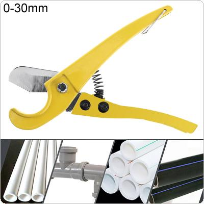 8 Inch Aluminum Alloy Scissors with Fixed Bracket and Surface Painting Process for PVC / PPR Pipe / Other Material Cutting