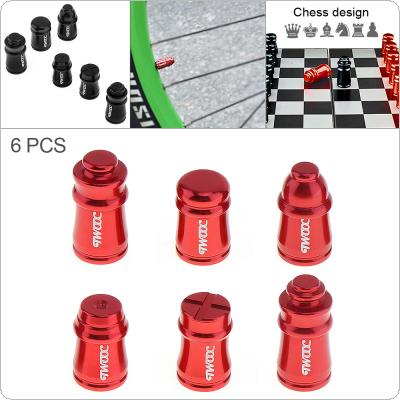 6pcs/set Schrader Valve Cap Aluminum Alloy Bicycle Wheel Tire Covered Protector Accessories  for Bicycle