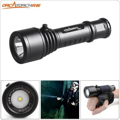 ORCATORCH D500V 1000 Lumens CREE XM-L2 U4 LED Underwater 150m Diving Flashlight with 120 Degrees Floodlight Angle for Professional Diving