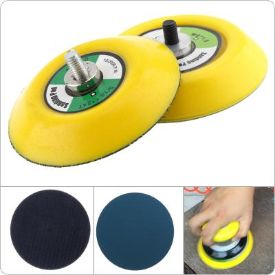 2pcs 3 Inch Professional 12000RPM Dual Action Random Orbital Sanding Pad with Hairy & Smooth Surface for Pneumatic Sanders / Air Polishers