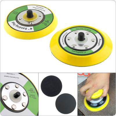 2pcs 4 Inch Professional 12000RPM Dual Action Random Orbital Sanding Pad with Hairy & Smooth Surface for Pneumatic Sanders / Air Polishers