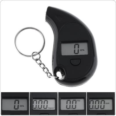 Mini Portable ABS Precision Electronic Digital Tire Gauge with Key Chain and LCD Display for Car Tire
