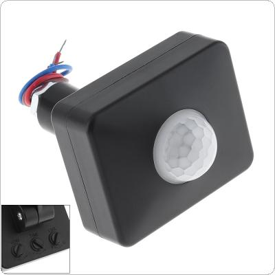 Mini AC 110-220V LED Infrared PIR Motion Sensor Project Lamp Switch for Outdoor Indoor