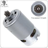 RS550 12V 19500 RPM DC Motor with Two-speed 12 Teeth and High Torque Gear Box for Electric Drill / Screwdriver