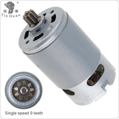 RS550 12V 19500 RPM DC Motor with Single Speed 9 Teeth and High Torque Gear Box for Electric Drill / Screwdriver