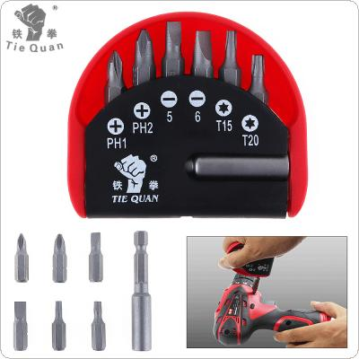 7pcs/set Electric Screwdriver Bit Head with Slotted / Phillips / Torx Head and Extension Rod for Hand Drill / Electric Drill