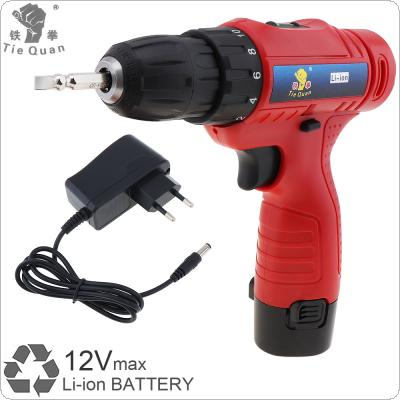 AC 100 - 240V Cordless 12V Electric Drill / Screwdriver with Rotation Adjustment Switch and 18 Gear Torque for Handling Screws / Punching