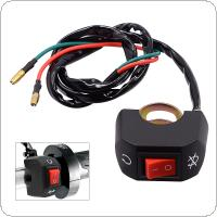 Universal Black Handlebar Switch ON-OFF Button Headlight Switch Flameout Switch with Waterproof for Motorcycle Scooter