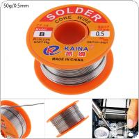 50g 63/37 Tin Fine Wire Core 0.5mm 2% Flux Reel Welding Line Solder Wire for Electronic Product Maintenance