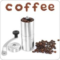 Stainless Steel Manual Coffee Bean Grinder Mill Hand Grinding for Kitchen Tool