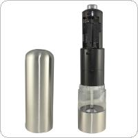 Stainless Steel Electric Salt Pepper Mill Spice Grinder Muller Kitchen Tool for Milling Pepper/Corn/Mustard