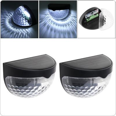 2pcs Waterproof Solar LED Wall Lamp Night Light with Motion Sensor and Semi-circle Type for Garden / Staircase / Door